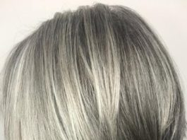 Straight Inverted Gray Bob For Fine Hair