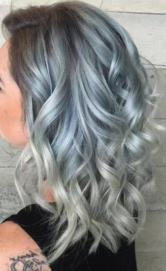 Pastel Blue And Silver Hair
