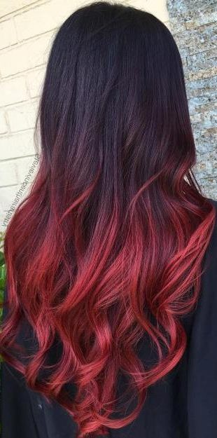 Red Ombre For Black Hair