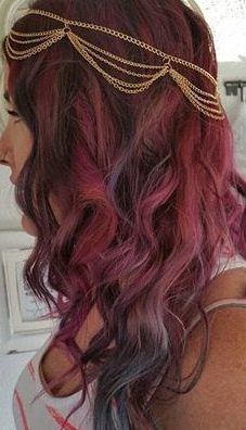 cherry red pastel hair