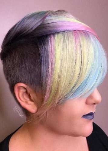 Short Undercut Hairstyle For Pastel Hair