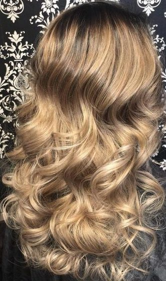 golden medium brown hair color