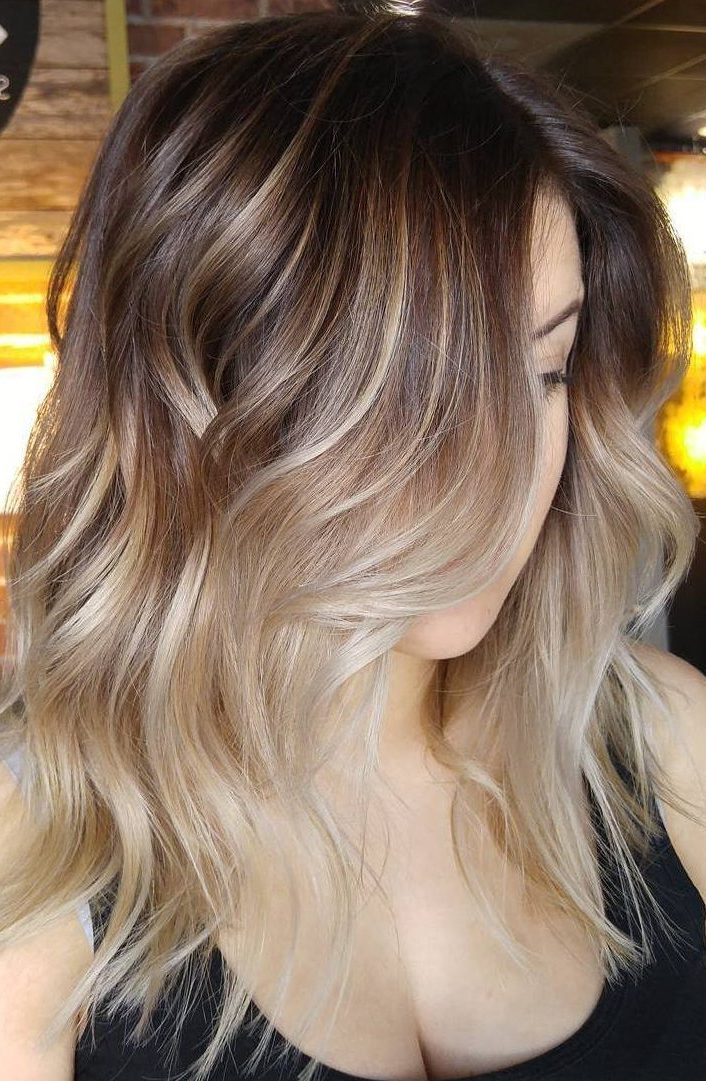 Soft Brown Ombre With Highlights