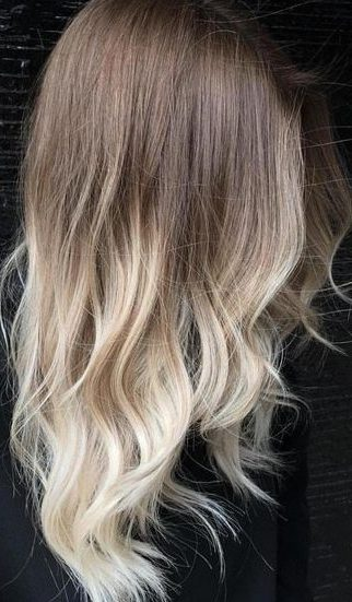 Brown To Blonde Ombre For Layered Hair
