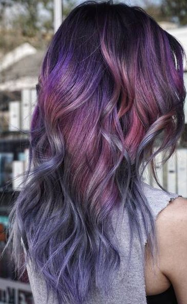 Purple To Gray Ombre Hair