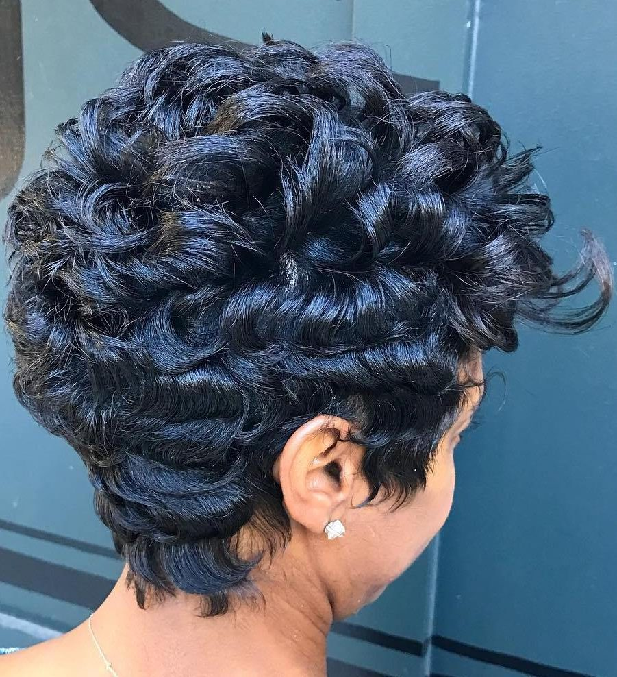 African American Blue Black Pixie