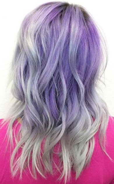 Pastel Purple To Gray Ombre Hair