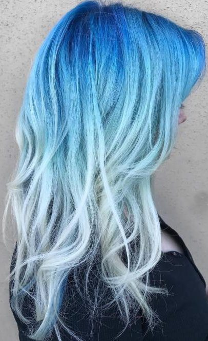 long blue and blonde hair