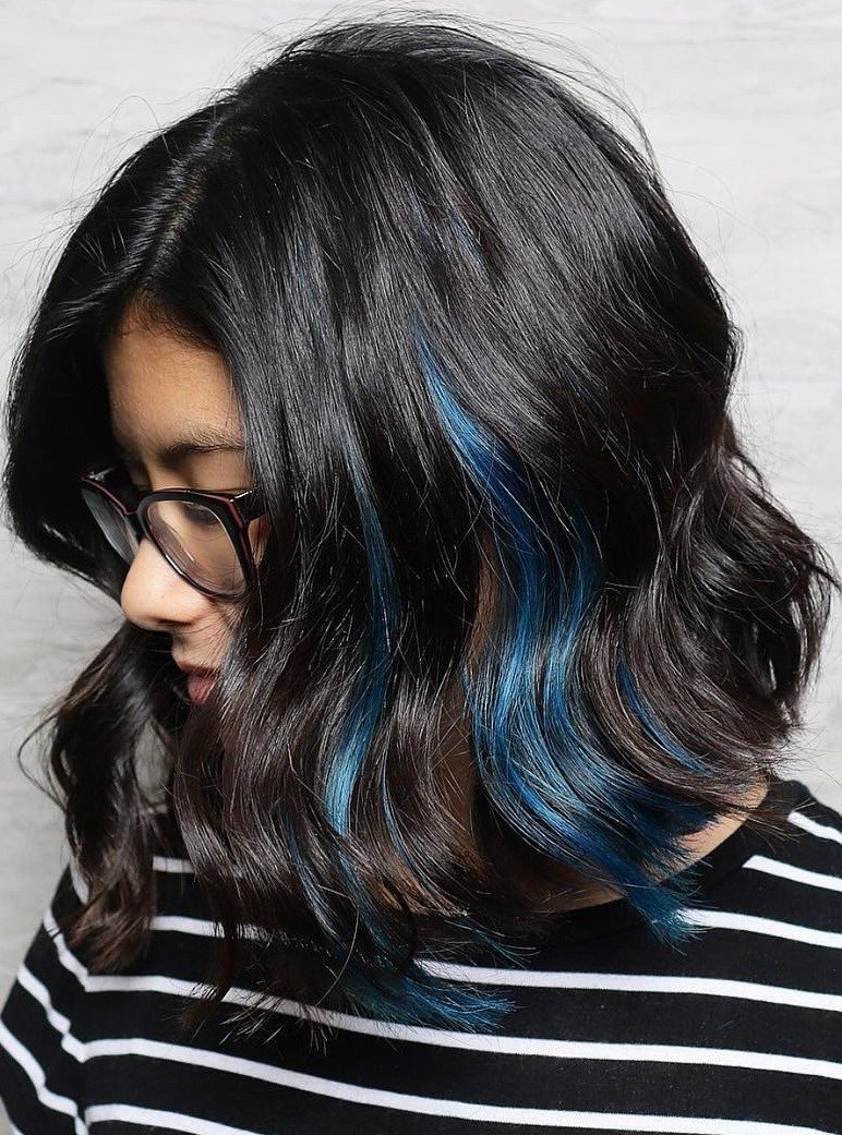 Black Lob With Blue Peek-A-Boos