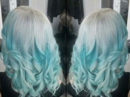 silver to turquoise blue ombre