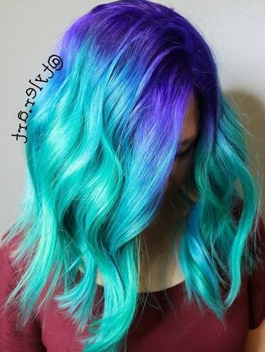 Blue And Teal Hair Color