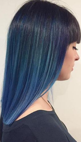 Blue Ombre For Straight Black Hair