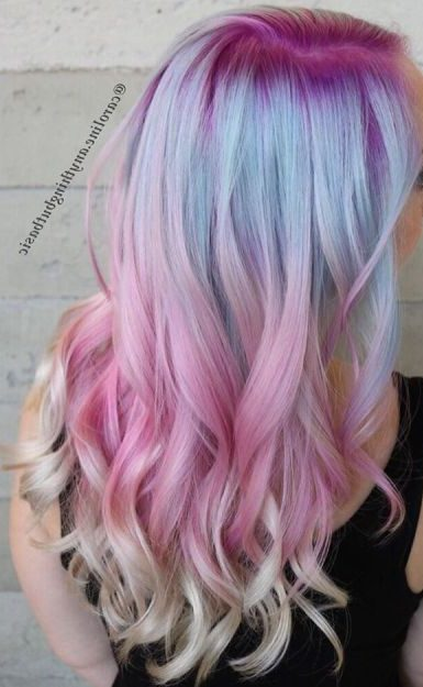 Pink And Blue Pastel Hair