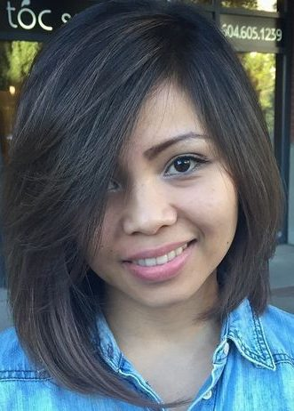 long asymmetrical bob haircut