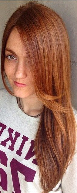copper hair color with highlights and lowlights