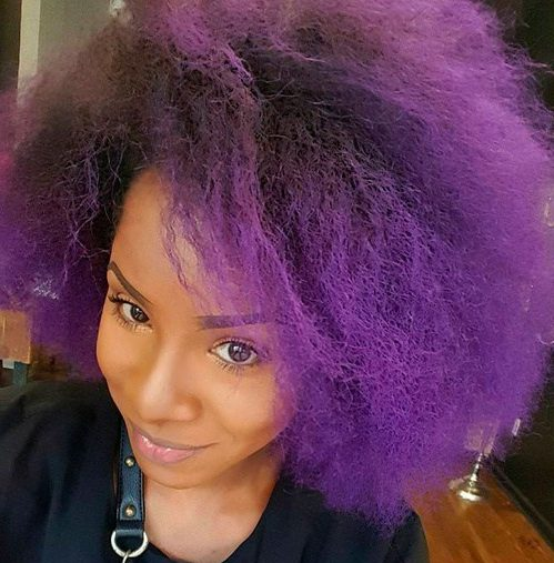 Purple For Natural Hair