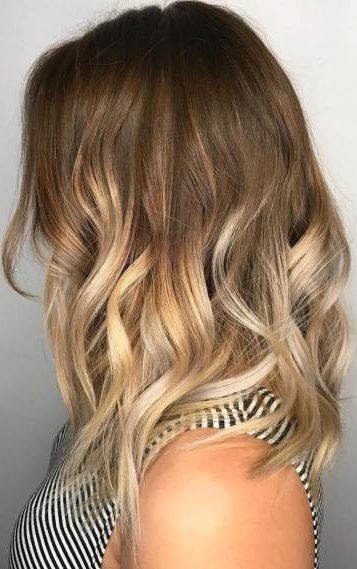 Brown To Blonde Medium Ombre Hair