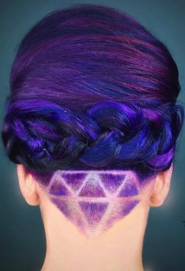 Galaxy Hair With Nape Undercut