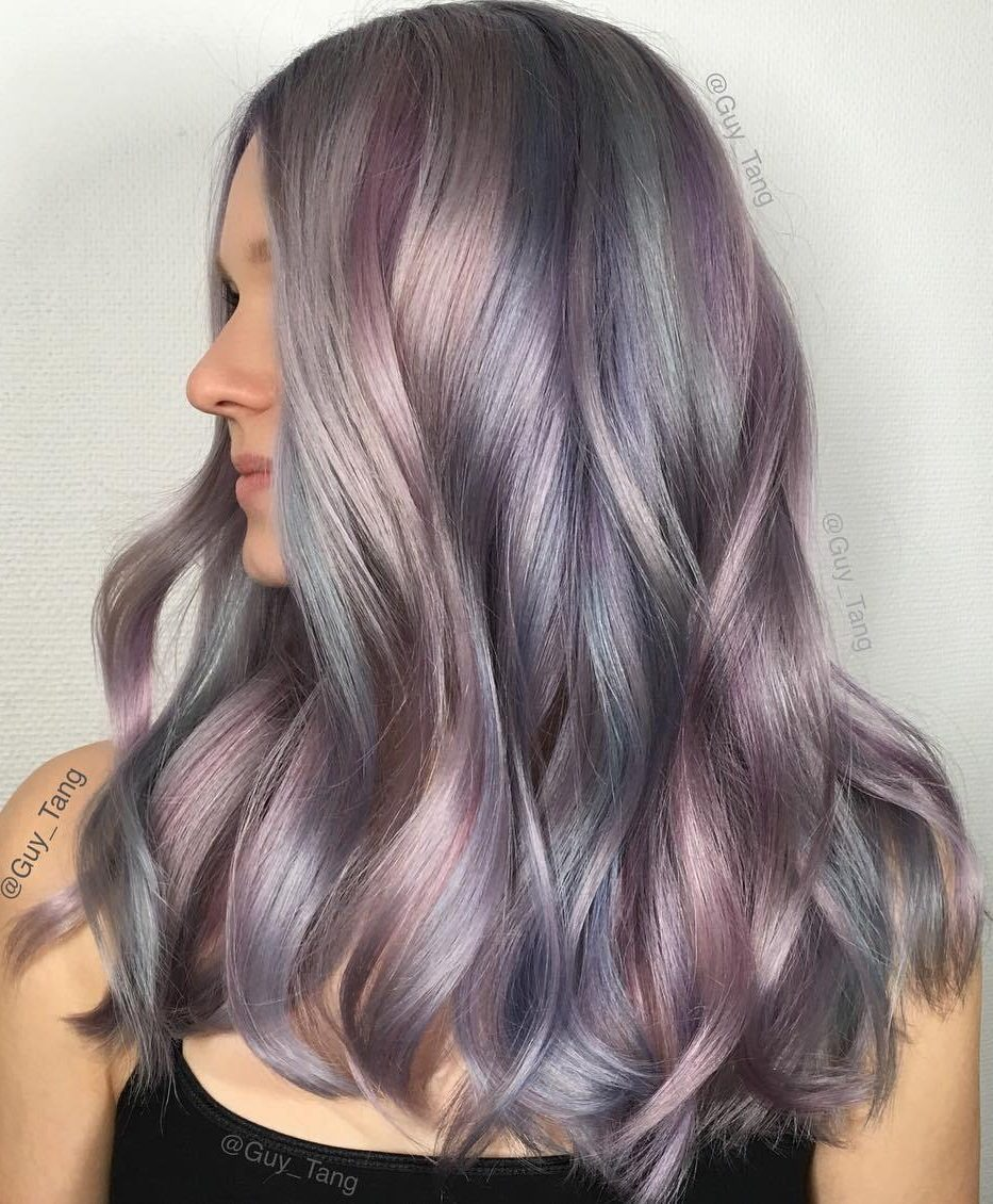 Pastel Purple Hair Color With Highlights