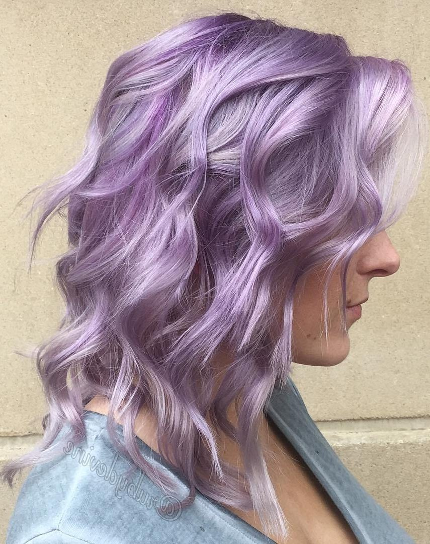 Medium Pastel Purple Hairstyle