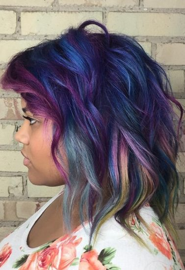 Medium Purple And Blue Hair