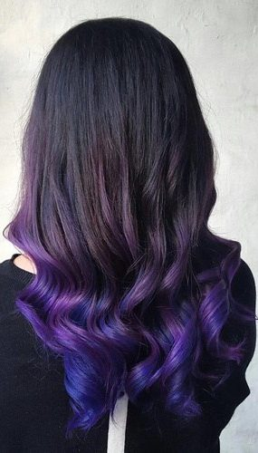 Purple And Blue Ombre For Black Hair